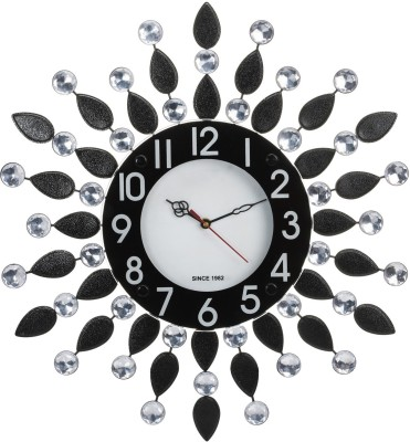 Wallace Victor205 Decorative Metal-Glass Diamond Studded Analog 47 cm Dia Wall Clock