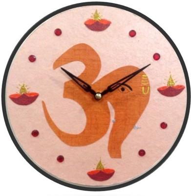 Purple Circle Analog Wall Clock