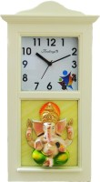 Feelings Analog Wall Clock(White, With Glass)