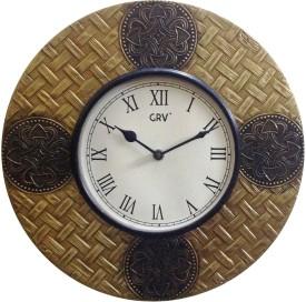 Navya Creations Analog 30 cm Dia Wall Clock(Multicolor, With Glass)