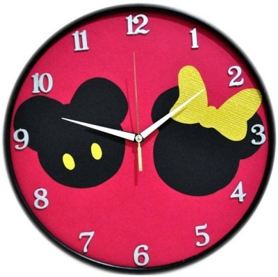 Purple Circle Analog 25 cm Dia Wall Clock