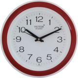 Victor Analog Wall Clock (Red, With Glas...