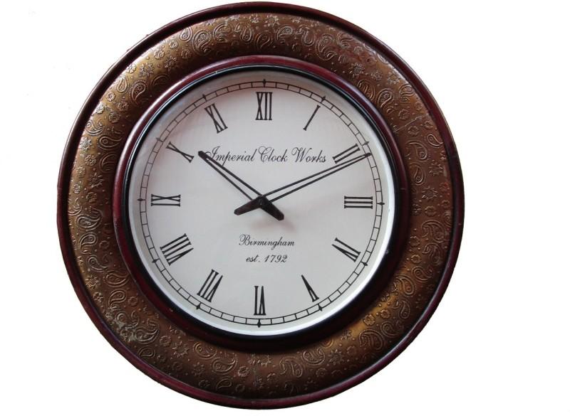 Rajwadi Kala Analog 30 cm Dia Wall Clock Rajwadi Clock 030 Round Shape