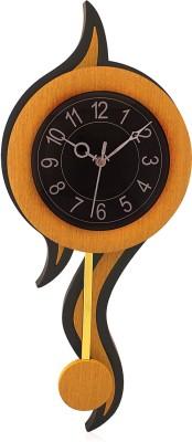 Fieesta 6007 Black&Tan Designer Pendulum Analog 56 cm Dia Wall Clock