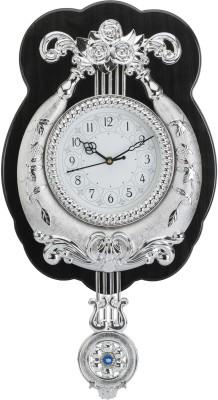 Wallace Yash1550-Silver Designer Pendulum Analog 41 cm Dia Wall Clock