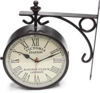Artondoor Analog Wall Clock(Black, With Glass)