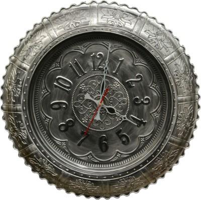 Wallace TQ3114- Silver Designer Analog 48 cm Dia Wall Clock