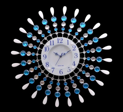 Wallace 119Metal-Glass Crystals Designer Analog 58 cm Dia Wall Clock
