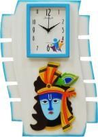 feelings Analog Wall Clock(Blue, With Glass)