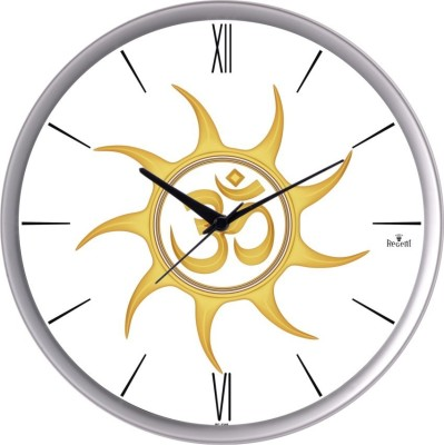 Regent Analog 31 cm Dia Wall Clock(Silver, With Glass)