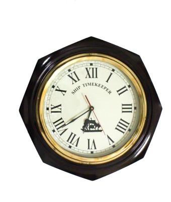 Brown Village Analog Wall Clock