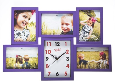 Smile2u Retailers Analog Wall Clock(Purple, With Glass)
