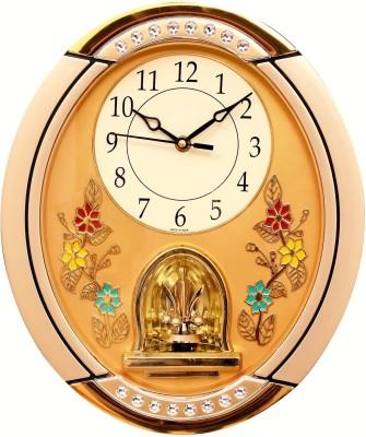 Wallace Solar9771 Golden Rotar Pendulum Analog Wall Clock