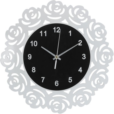 Wallace 02AB Designer MD Wooden Fibreboard Analog 42 cm Dia Wall Clock