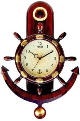Cedar Anchor and Steering Pendulum Analog Wall Clock