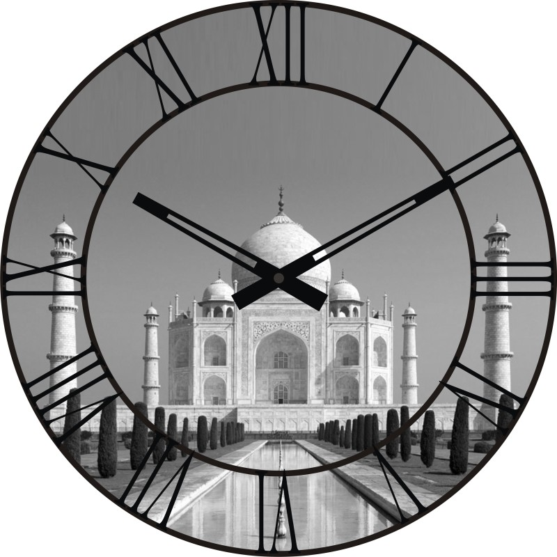 ONATTO Analog 29 cm Dia Wall Clock THE ICONIC TAJ MAHAL