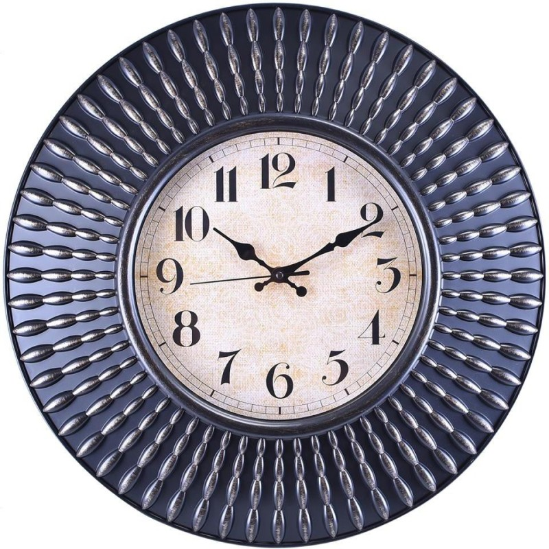 Prateek Exports Analog Wall Clock(Brown, With Glass)