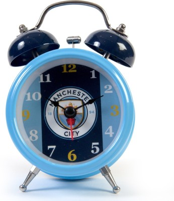 Manchester City F.C. Analog Wall Clock(Multicolor, With Glass)