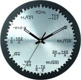 Home Analog Wall Clock (Shiny Silver & B...