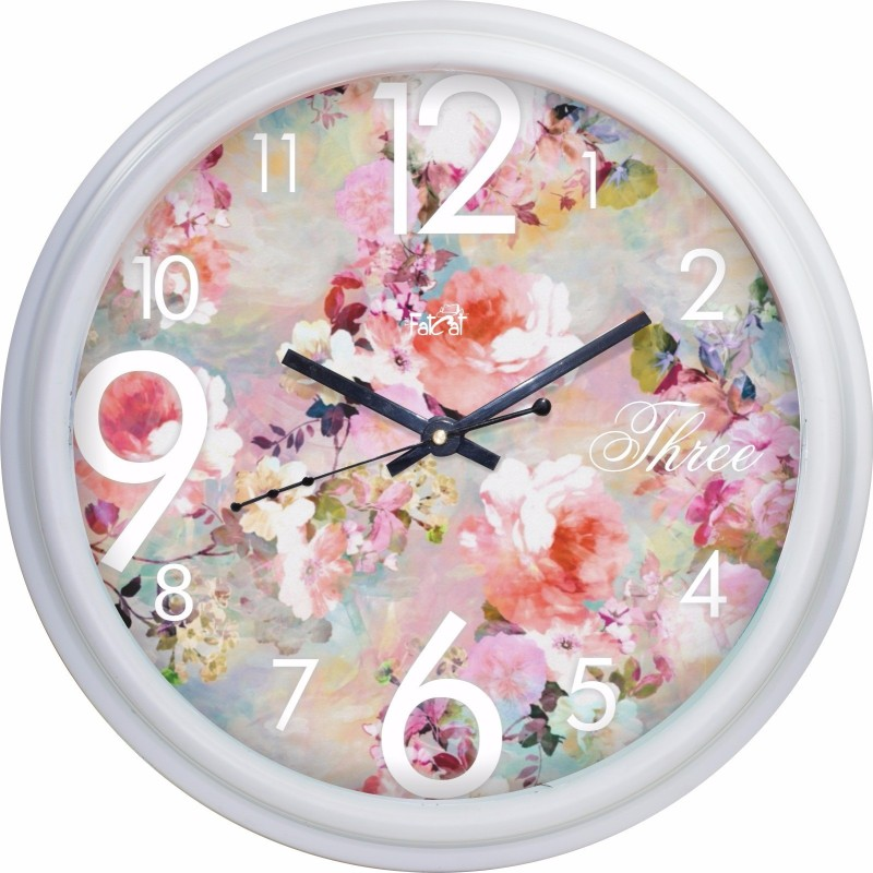 The Fat Cat Analog Wall Clock Garden_Wall clock