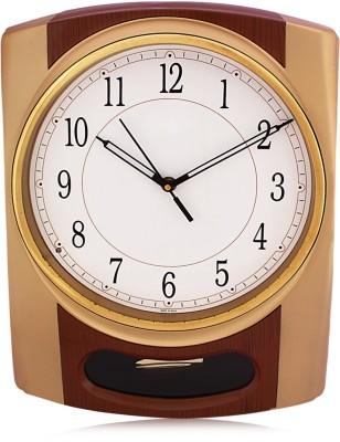 Fieesta Solar4407-Dark Brown Pendulum Wall Clock with Musical Hourly Chimes Analog Wall Clock