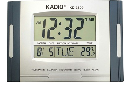 Kadio 3809 Multi-functional Digital Electronic Clock Digital Wall Clock