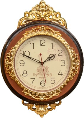 Wallace Optra1047-Coffee Crown Jewel Series Analog 33 cm Dia Wall Clock