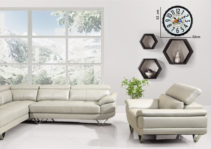 Cortina Analog Wall Clock(Multicolor, Without Glass)