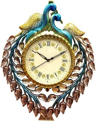 Wallace Renault511 Golden Peacock Design Analog 50 cm Dia Wall Clock