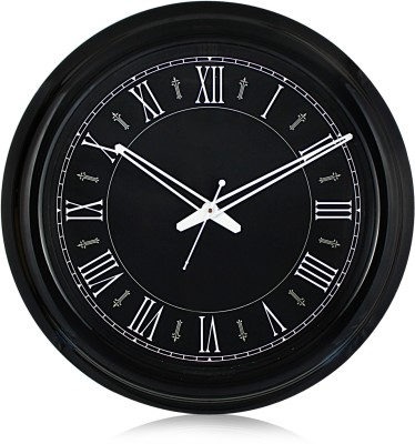 Fiesta Motion005 Royal Full Black Roman Analog 45 cm Dia Wall Clock
