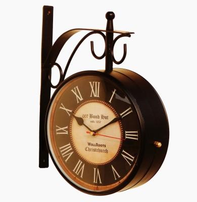 007 Bond Hut Analog Wall Clock(Black, With Glass)