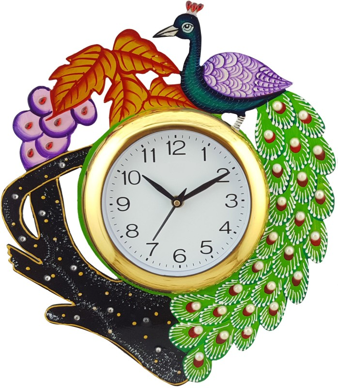 Divinecrafts Analog Wall Clock(Multicolor, With Glass)