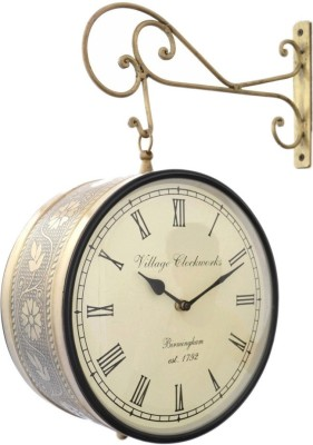 Village Analog 8 cm Dia Wall Clock
