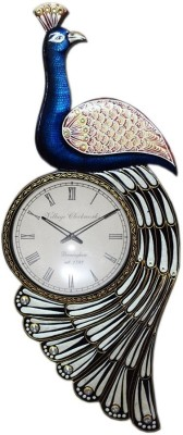 Anant Decor Analog Wall Clock(Blue, With Glass)