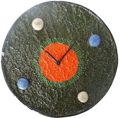 Aamore Decor Analog Wall Clock(Green, Without Glass)