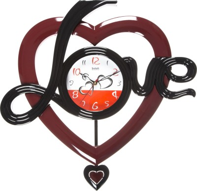 Smile2u Retailers Analog Wall Clock(Red, With Glass)