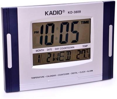 Kadio Digital Silver, Blue Clock