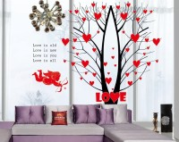 Oren Empower Valentine special red love tree large wall sticker(67 cm X cm 85, Red)