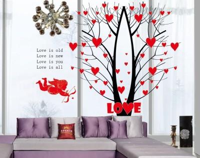 Oren Empower Valentine special red love tree large wall sticker