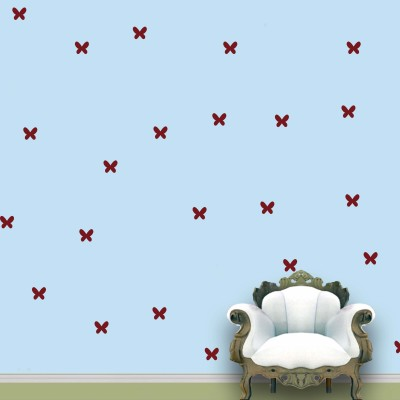 WallDesign Butterfly Wall Pattern Maroon Stickers Set of 75