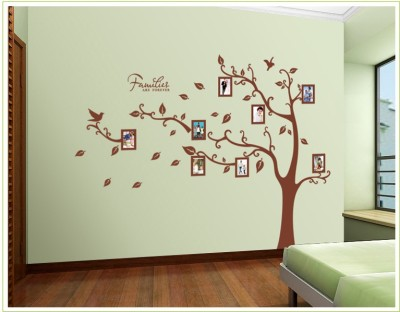 Oren Empower 2pc/set (Double Sheet) Extra Large Tree wall sticker with photo frames