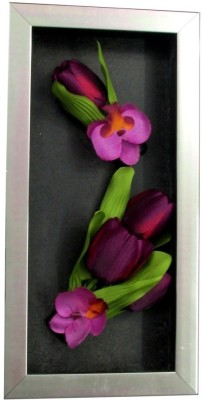 Fourwalls Artificial Tulip and Orchid Wall Hanging Frame (Large) - 1