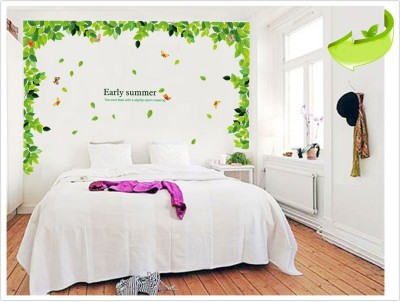 Oren Empower Hot Sale Removable Green Leaves Wall Stickers