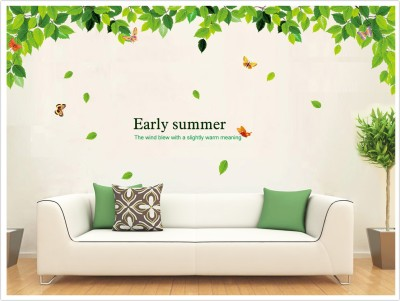 Oren Empower Green leaves large wall sticker(80 cm X cm 180, Green)