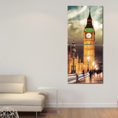 999 Store Multiple Frames Printed Towers Wall Art Painting -2 Frames (76x25 cm)