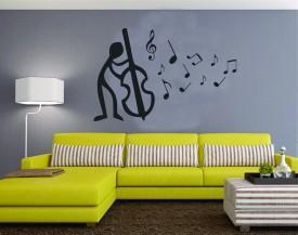 Highbeam Studio Cello Music Wall Decal (Large)(Black)