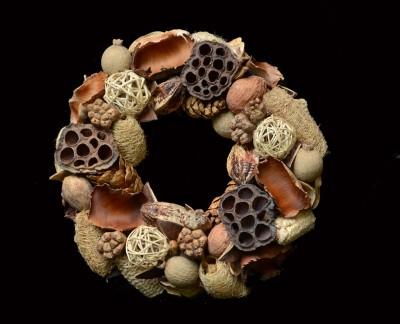 Exotic Creations Linen Closet - Dried flower wreath