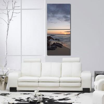 999 Store Multiple Frames Printed Bank of Sea like Modern Wall Art Painting -2 Frames (76x25 cm)