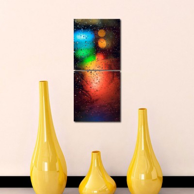999 Store Multiple Frames Printed Water drops like Modern Wall Art Painting-2 Frames (76x25 cm)