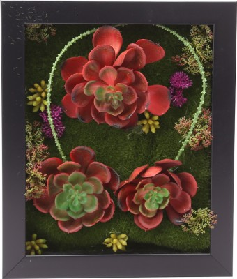 Fourwalls Artificial Succulent Wall Hanging Garden - 2(20 cm X cm 30, Multicolor)